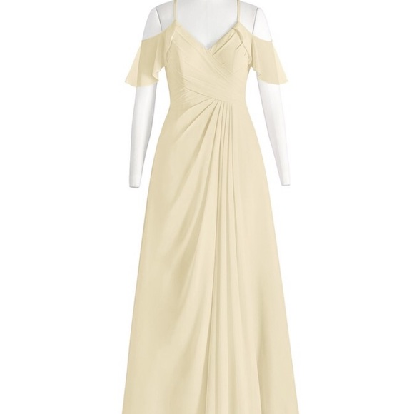 a0fab1b0e30 Azazie Dakota CHAMPAGNE Bridesmaid Dress- Unused